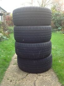 Four 205/40 R17 part worn tyres £35