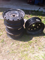 """16"""" steel rims with 5 x 100 bolt pattern"""