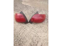 Peugeot 206 rear taillights spares repair parts tail light