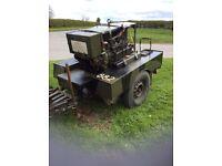Ww2 sankey trailer with working Generator £500