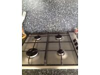 Gas Hob  - BOSCH (With instruction book) Stainless steel  Location : Plaistow E13