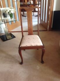 Four Light Mahogany Chairs
