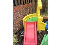 Childs solid plastic slide