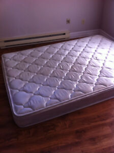 Free double mattress, bed frame and headboard.