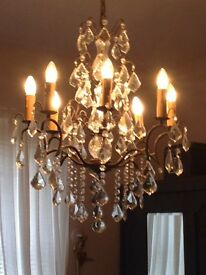 Stunning barker stonehouss French antique sparkling chandelier cost £1000