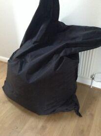 Giant bean bag black