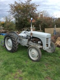 Grey Fergie tractor,straight petrol not TVO.