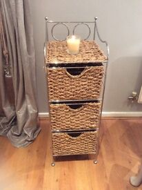 Seagrass 3 drawer side unit