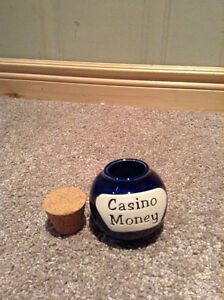 "Ceramic glass savings jar  with ""Casino Money"" on front Kitchener / Waterloo Kitchener Area image 2"
