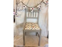 Upcycled reupholstered Ducal Pine dining chair
