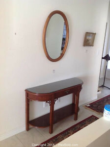 Hall Table/ Sofa Table with Mirror