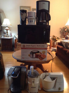 Various household appliances sold as package or sold separately