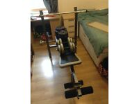 Weights bench and dumbbell set
