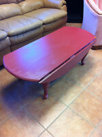 Double drop leaf coffee table