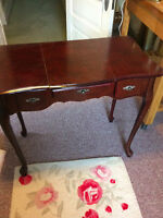 Antique make-up/jewelry table