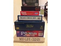 8 board games, Trivial Pursuit, Pointless, Mid-Life Crisis and more