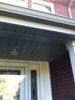 Eavestrough,soffit and siding