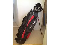 Mens Top flite golf clubs with bag