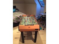 Pool table, table football, and air hockey table, in one