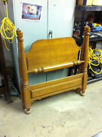 Single four poster headboard and footboard