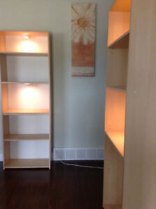 ikea billy bookcase shelving unit with lighting