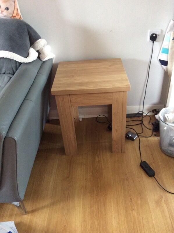 Oak Effect Side Table