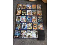 Slimline Sony PlayStation 2 with 24 games and 2 control pads