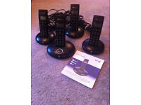BT Graphite 1500 Quad Cordless Telephone and Answerphone