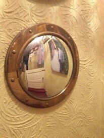 Convex porthole mirror