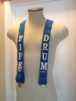 FIFE & DRUM BEER BLUE SUSPENDERS ( VINTAGE )