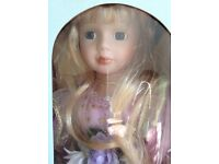 Beautiful boxed porcelain collectors doll