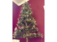 Christmas Tree from PAPERCHASE / worth £60 / Gold & Green sparkly tinsel / retro look.