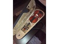 Full size violin and case