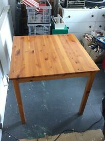 Solid pine dining table.
