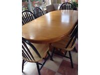 Laura Ashley style extending country table + 6 chairs