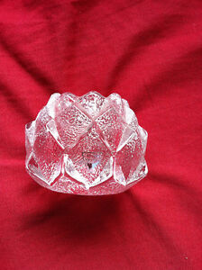 2 Orrefors crystal candle holders