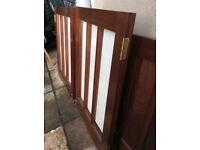 Solid Pair MAHOGANY GLAZED DOORS - Excellent Quality & Condition