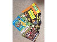 6 England Wembley Programmes 1979-82