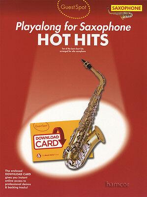 Guest Spot Playalong for Saxophone Hot Hits Alto Sax Sheet Music Book & DLC