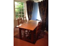 Farmhouse style kitchen or dining room table and 6 chairs