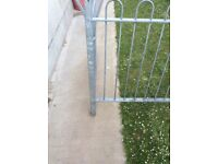 25ft of galvanised railings and handrails for sale
