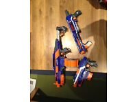 Three nerf guns all in good condition with ammo included