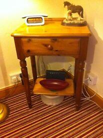 Pine phone table