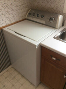 Whirlpool Washer and Fisher & Paykel Dryer