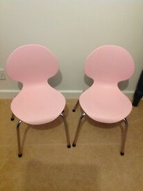 JOHN LEWIS - CHAIRS - CHILD SIZE-PINK X2