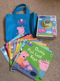 Brand new Peppa Pig bundle - watch and book set