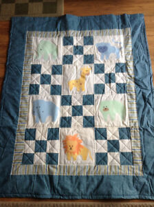 Homemade Animal Quilt! Great baby gift!