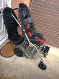 Icandy peach jogger pram with carrycot, rain covers, car seat ...