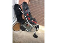 Double Disability buggy with removable back seat
