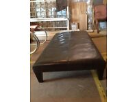 Real leather coffee table, 152cm X 74cm